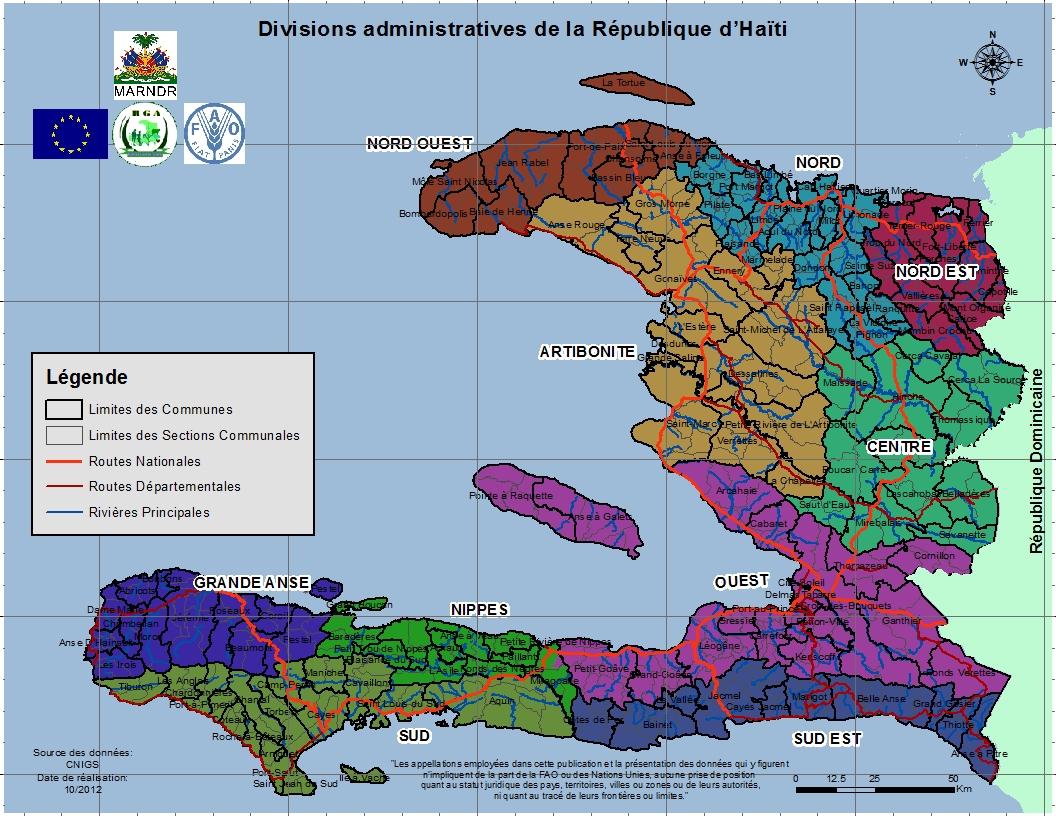 Carte De Carrefour Haiti.Atlas Agricole D Haiti
